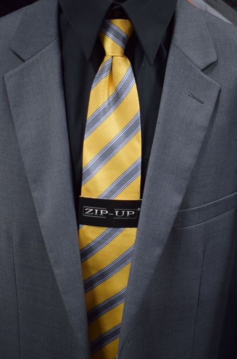 striped print tie